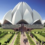 The Bahá'í House of Worship in New Delhi, India